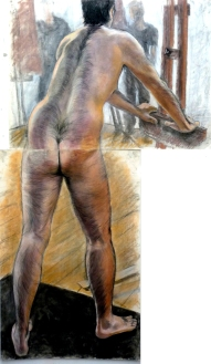 2 sheet standing hairy male model back view (594x1024)