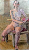 large 2part seated female nude full frontal chair (589x1024)