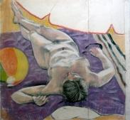 nude lying on back sunshade beach ball (1024x948)