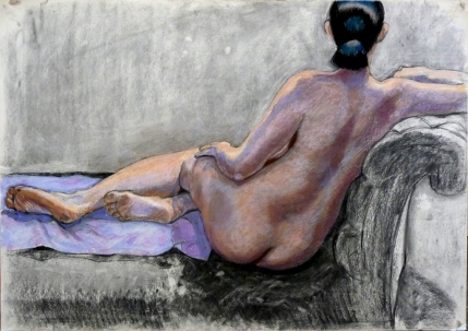 nude reclining chaise long rear view mauve towel (1024x724)