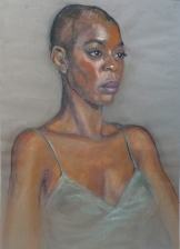 portrait Fola in green slip (740x1024)