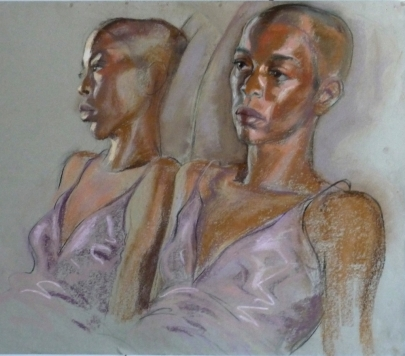 portrait Fola with reflection in mirror (1024x902)