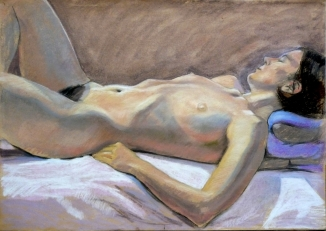 reclining nude side view white sheet one leg bent (1024x726)