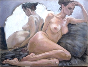 seated nude shaped mirror grey blanket cuchion (1024x773)